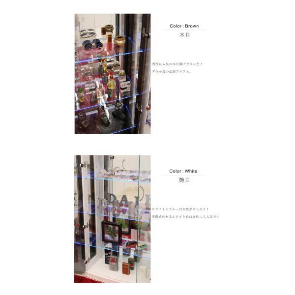 コレクションケース コレクションボード コレクション収納 LED 幅70 奥行40 高さ155cm 完成品 ガラスケース フィギュアケース ホワイト アウトレット価格並|kagu-1|05