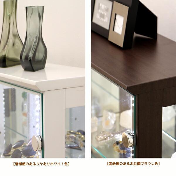 コレクションケース コレクションボード コレクション収納 ロータイプ LED 完成品 幅150 奥行25 高さ80cm 鏡面 ホワイト 完成品 木製 アウトレット価格並|kagu-1|09
