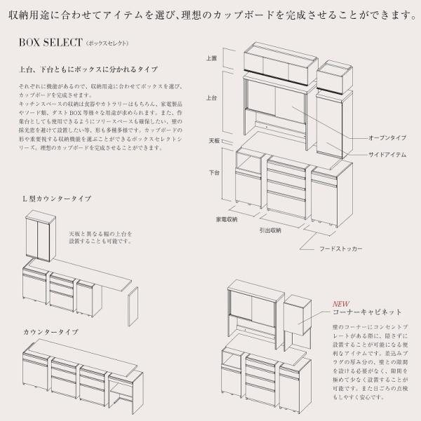 パモウナ 食器棚 幅60cm ロータイプ 上台 ユニット キッチンボード 開き扉 スライド用 キャビネット UKA-L60K|kagu-hiraka|04