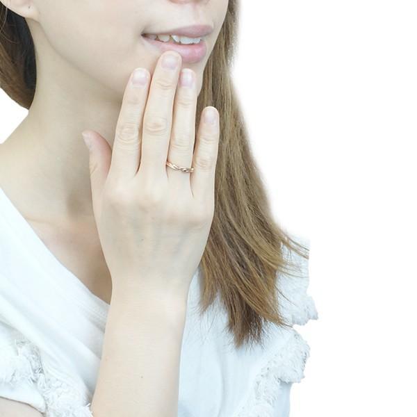 レディースリング トライバル柄 アラベスク柄 内側に1粒天然ダイヤモンド サージカルステンレス 低アレルギー ダイアモンド SUS316L |kagu-piena|05