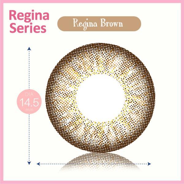 カラコン 1ヶ月用 1枚入り 度あり 0.50〜 10.00 クオーレ ルナ レジーナシリーズ ブラウン Quore Regina Luna|kagu-piena|03