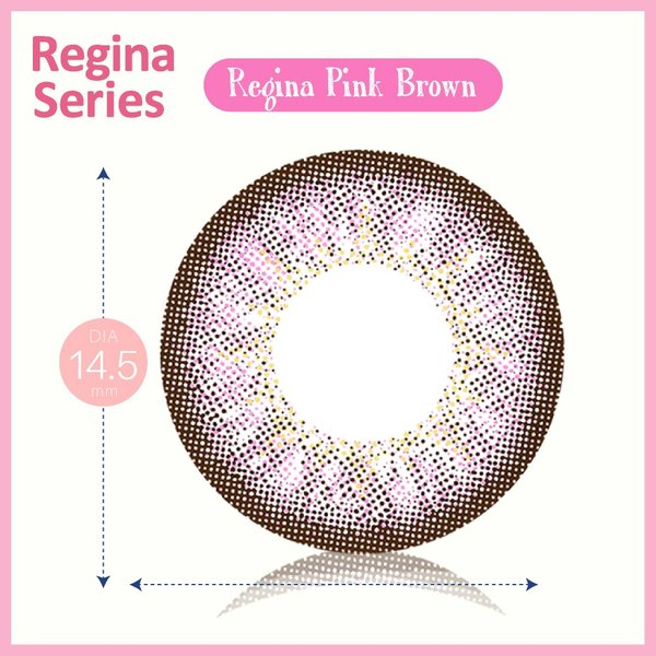カラコン 1ヶ月用 1枚入り 度あり クオーレ ルナ レジーナシリーズ ピンクブラウン Quore Regina Luna|kagu-piena|03