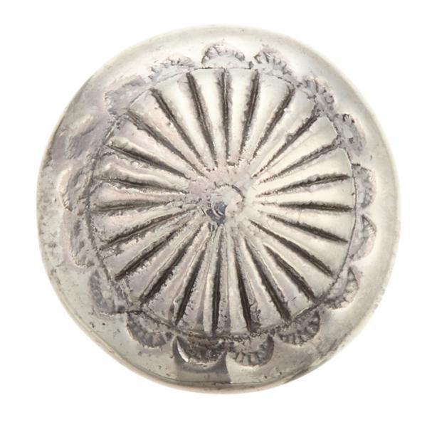 コンチョ インディアン ボタン ネジ式 ループ式 カスタムパーツ 15mm