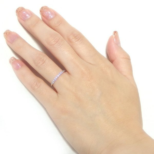 ダイヤモンド リング ハーフエタニティ 0.2ct 12.5号 プラチナ Pt900 0.2カラット エタニティリング 指輪 鑑別カード付き
