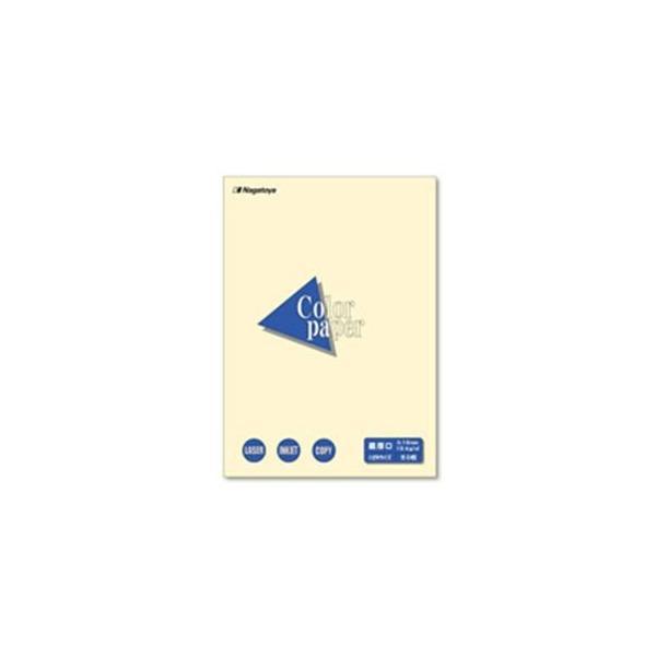 (業務用20セット)Nagatoya カラーペーパー/コピー用紙 〔はがき/最厚口 50枚〕 両面印刷対応 レモン