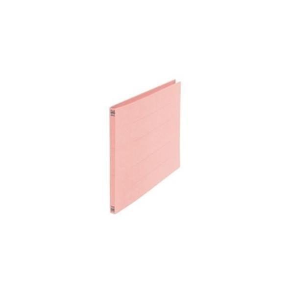 (業務用5セット) プラス フラットファイル/紙バインダー 〔B4/2穴 10冊入り〕 ヨコ型 012N 桃