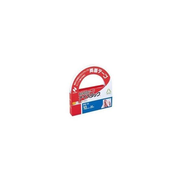 (業務用10セット) ニチバン 両面テープ ナイスタック 〔幅10mm×長さ20m〕 NW-10