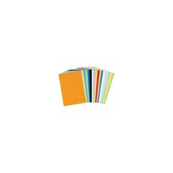 (業務用2セット) 北越製紙 やよいカラー 色画用紙/工作用紙 〔四つ切り 100枚〕 レモン