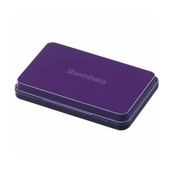 (まとめ) シヤチハタ スタンプ台 中形 紫 HGN-2-V 1個 〔×5セット〕