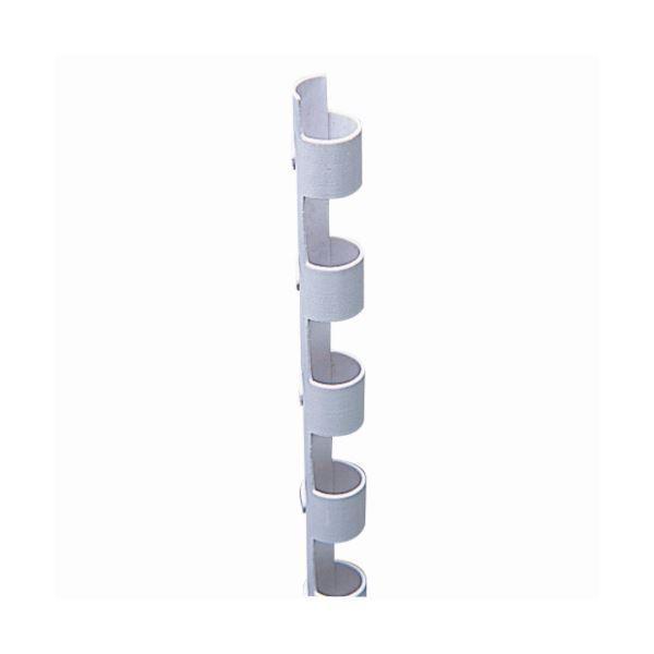 (まとめ) カール事務器 コームリング 直径6mm ホワイト TC-6W 1パック(10本) 〔×15セット〕