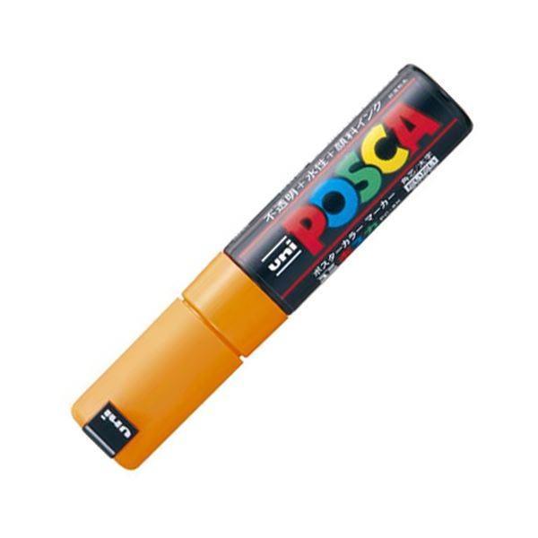(まとめ) 三菱鉛筆 水性マーカー ポスカ 太字角芯 橙 PC8K.4 1本 〔×20セット〕