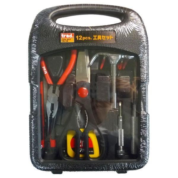 (まとめ)TRAD 工具セット/作業工具 〔12個入〕 TS-12 〔業務用/家庭用/DIY/日曜大工〕〔×2セット〕