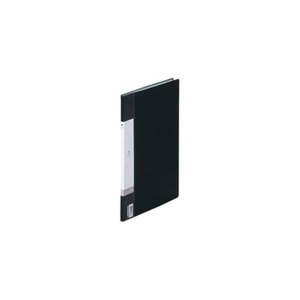 (業務用200セット) LIHITLAB クリアブック/クリアファイル リクエスト 〔A4/タテ型〕 固定式 10ポケット G3200-24 黒