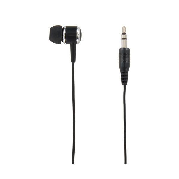 (まとめ)YAZAWA カナル型片耳イヤホン3Mステレオプラグ ブラック TMS1063BK〔×10セット〕
