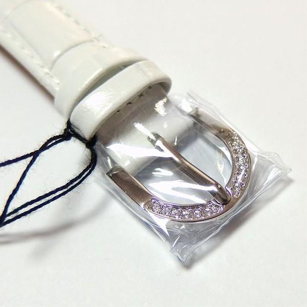アンコキーヌ ネオ 40mm バイカラー ミニクロス シルバーベゼル インナーベゼルクリアー ホワイトベルト イール 正規品(腕時計・グルグル時計)