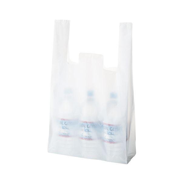 TANOSEE 乳白レジ袋 45号ヨコ300×タテ530×マチ幅140mm 1セット(1000枚:100枚×10パック)
