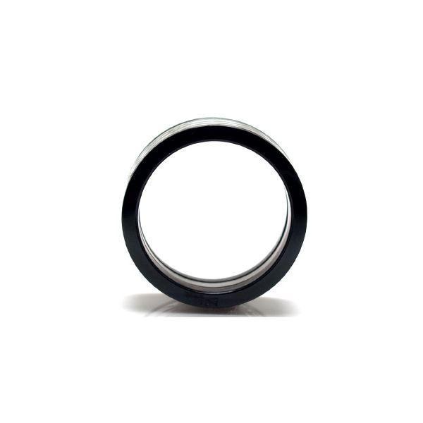 ブラックサイドカラー・ステンレスリング・15号 ZZRST012bk-15x〔代引不可〕