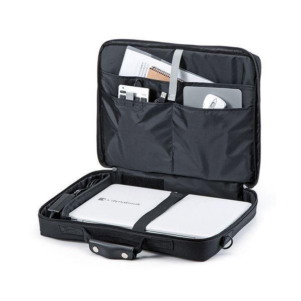 サンワサプライ PCキャリングバッグ15.6型ワイド対応 ブラック BAG-U54BK2 1セット(3個)