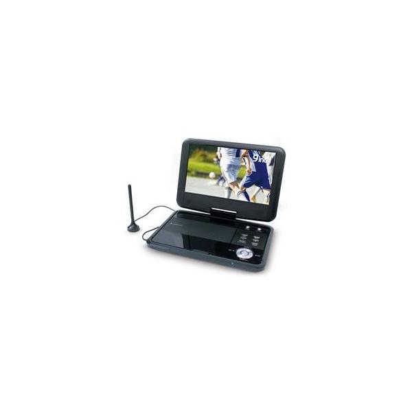 エスキュービズム 9インチ ワンセグ/フルセグ ポータブルDVDプレーヤー(内蔵バッテリー) APD-0901F