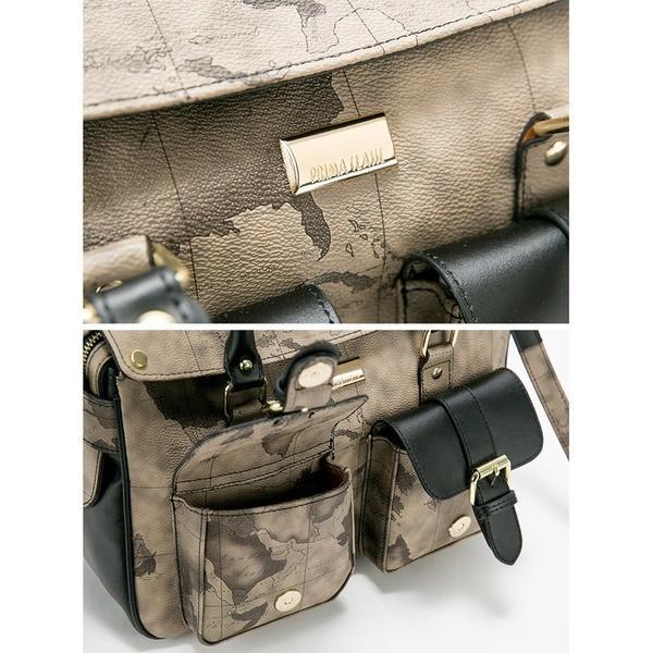 PRIMA CLASSE(プリマクラッセ) PSH8-3143 デザイン前ポケット付ミニボストンバッグ (グレイ)