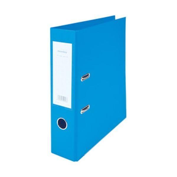 (まとめ)nicedayオリジナル レバーアーチ式ファイルA4タテ・2穴(背幅7.5cm) ブルー 1冊〔×20セット〕