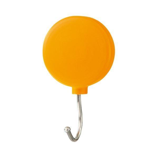 (まとめ) ミツヤ プラマグネットフック スイング式 耐荷重約3Kg オレンジ PMHRM-OR 1個 〔×30セット〕
