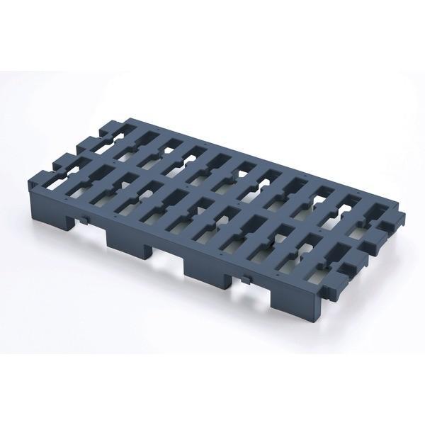 プラスチック製 すのこ 〔ネイビー〕 37.5×74×7cm 連結可 ベストコ Free storage マルチパレット 〔キッチン 台所 押入れ〕〔代引不可〕