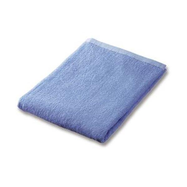 (まとめ)業務用スレンカラーバスタオルライトブルー 1枚〔×20セット〕