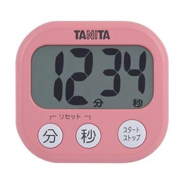 (まとめ)タニタ でか見えタイマーフランボワーズピンク TD-384PK 1個〔×20セット〕