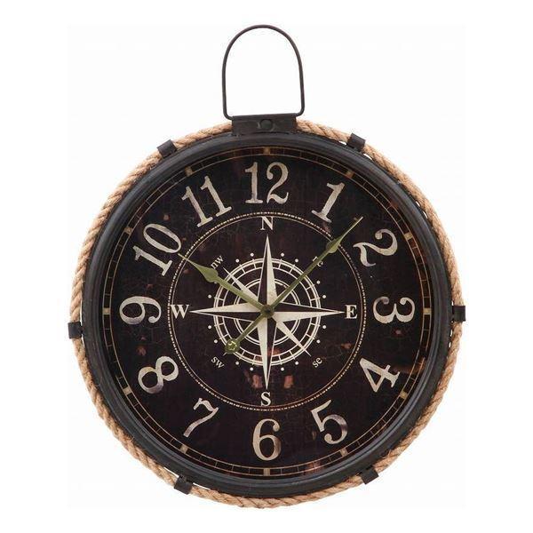 掛時計 コンパス Φ47cm ブラック〔代引不可〕
