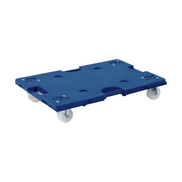 (まとめ)TANOSEE 連結平台車 150kg荷重 大(W600×D400×H115mm) ストッパー2個付 1台 〔×3セット〕