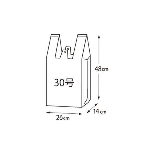 (まとめ)クラフトマン レジ袋 シルバー 30号 100枚 CF-S30〔×3セット〕