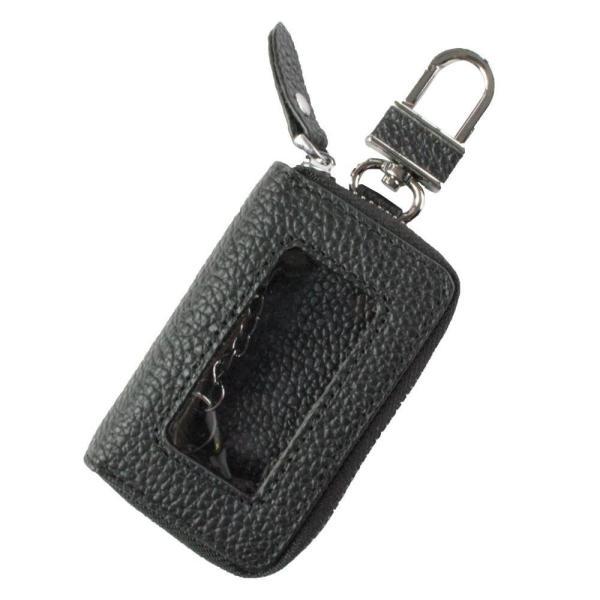AWESOME(オーサム) スマートキーケース クリア窓付き ブラック ASK-CM002