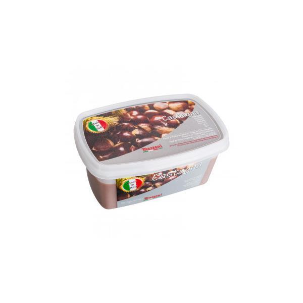 (代引不可)マッツォーニ 冷凍ピューレ 栗 1000g 6個セット 9402
