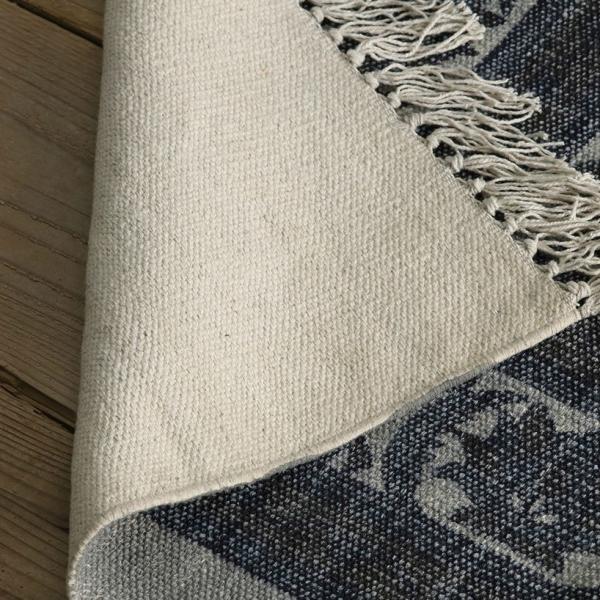 綿100% オリエンタルデザインのストーンウォッシュプリントラグ 130x190cm 約1.5畳|kagu-refined|07