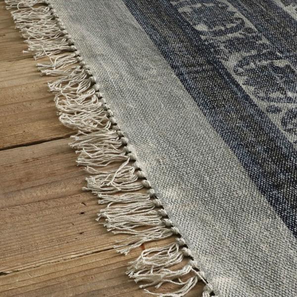 綿100% オリエンタルデザインのストーンウォッシュプリントラグ 130x190cm 約1.5畳|kagu-refined|09