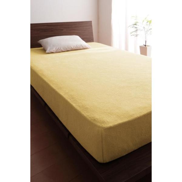 ベッド用ボックスシーツ マットレスカバー クイーン 洗える コットンタオルのシーツ|kagu-refined|19