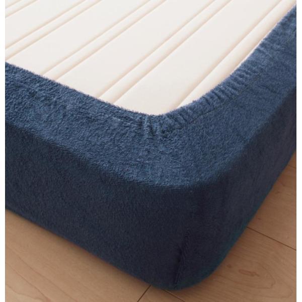 ベッド用ボックスシーツ マットレスカバー クイーン 洗える コットンタオルのシーツ|kagu-refined|04