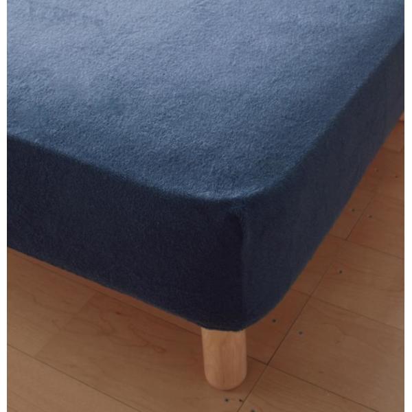ベッド用ボックスシーツ マットレスカバー クイーン 洗える コットンタオルのシーツ|kagu-refined|05