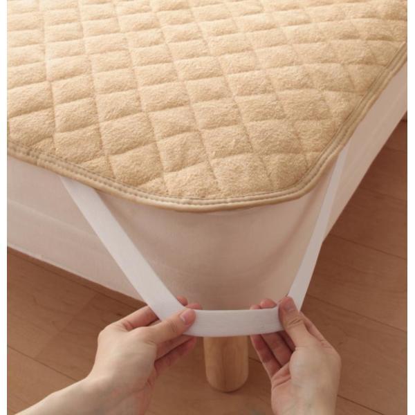 敷きパッド シングル 同色2枚セット 洗える コットンタオルの敷きパッド|kagu-refined|04