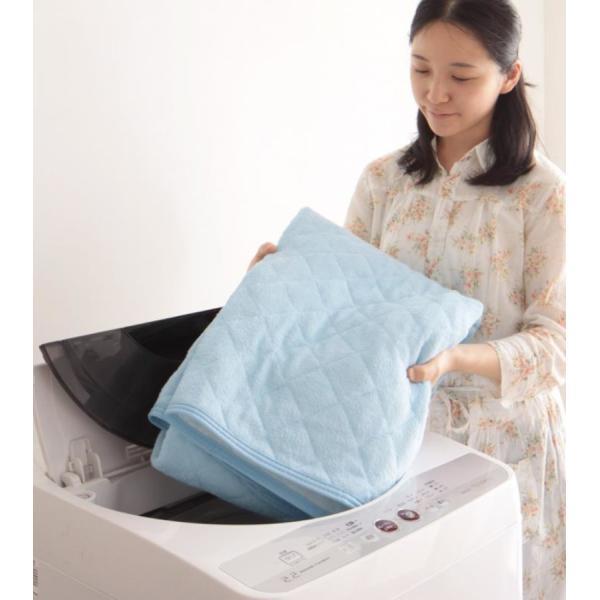 敷きパッド シングル 同色2枚セット 洗える コットンタオルの敷きパッド|kagu-refined|07