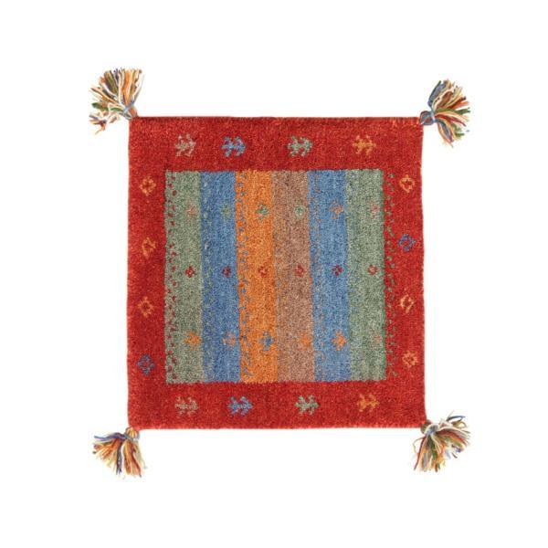 ギャベ ギャッベ 座布団 ウール100%インド製手織りギャッベラグ・マット GABELIA ギャベリア 40×40cm|kagu-refined|04