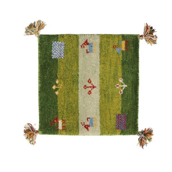 ギャベ ギャッベ 座布団 ウール100%インド製手織りギャッベラグ・マット GABELIA ギャベリア 40×40cm|kagu-refined|05