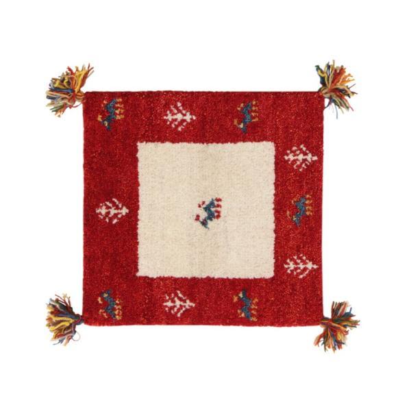 ギャベ ギャッベ 座布団 ウール100%インド製手織りギャッベラグ・マット GABELIA ギャベリア 40×40cm|kagu-refined|06