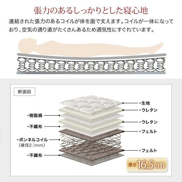 送料無料 ベッド シングル レギュラーボンネルコイルマットレス付き 棚コンセント 収納付き Ever3 エヴァー3|kagu-refined|13