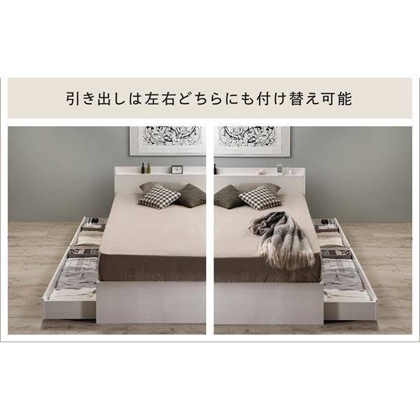 送料無料 ベッド シングル レギュラーボンネルコイルマットレス付き 棚コンセント 収納付き Ever3 エヴァー3|kagu-refined|04