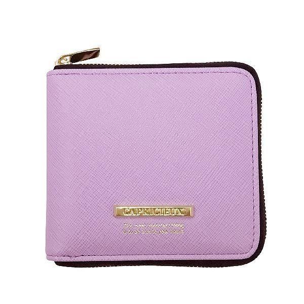 Capricieux カプリッシュ 二つ折り財布 パープル CAP24-1