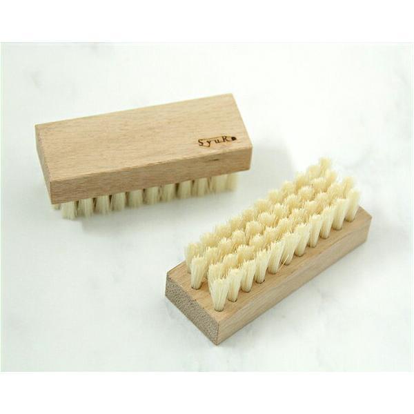 SyuRo(シュロ) ナラのキッチンブラシ(1個) 台所 日本製 国産 掃除 シンク ネイル 磨く 天然木 木 木製
