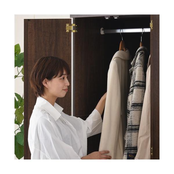 クローゼット ワードローブ 洋タンス 衣類 洋服 収納 壁面収納 ハンガー ラック コート掛け 棚 箪笥 ロッカータンス おしゃれ|kagubiyori|18