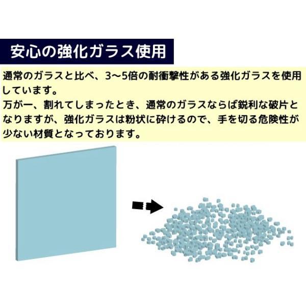ガラステーブル センターテーブル リビング 黒|kaguch|02